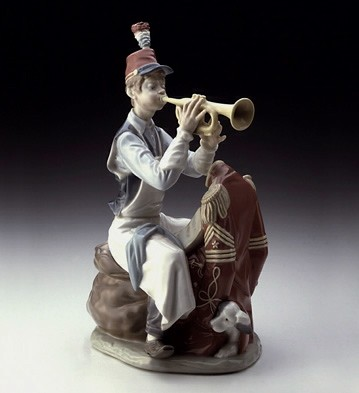 Lladro Practice Makes Perfect- Rockwell Le5000 Porcelain Figurine
