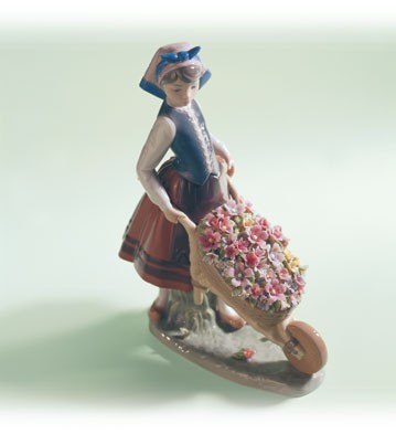 LladroA Barrow of Blossoms 1982-04Porcelain Figurine