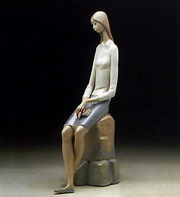 LladroGirl Student 1969-78Porcelain Figurine
