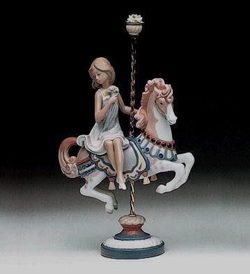 LladroGirl On Carousel Horse 1985-2000Porcelain Figurine