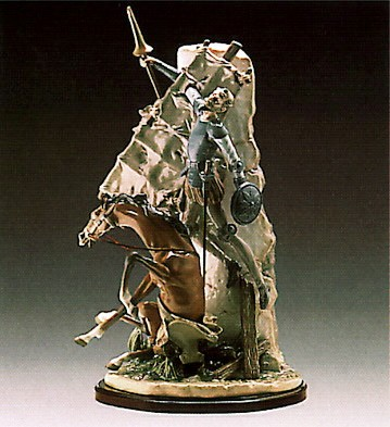Lladro Don Quixote And The Windm Porcelain Figurine