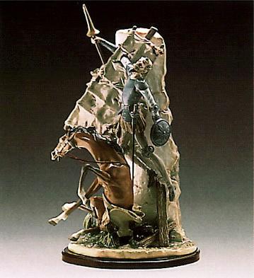 LladroDon Quixote And The WindmPorcelain Figurine
