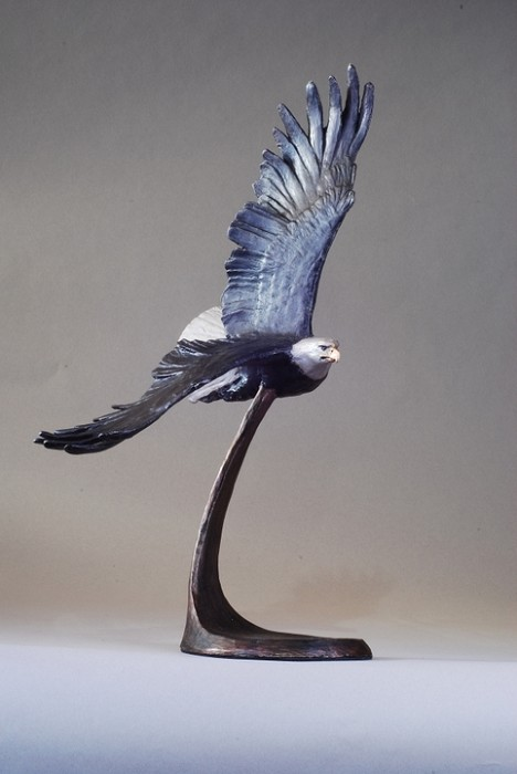 Mark HopkinsWings of Freedom (Bald Eagle Patina)Bronze Sculpture