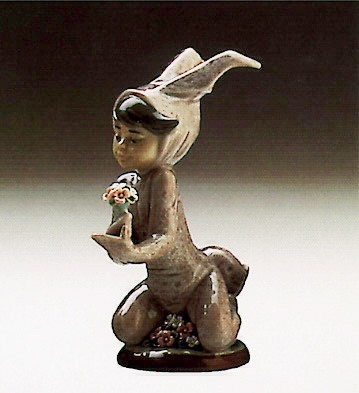 Lladro Boy And His Bunny 1986-91 Porcelain Figurine