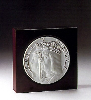 Lladro New World Medallion 1991-94 Porcelain Figurine
