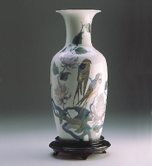 LladroSwallow Vase 1989-98 Le300Porcelain Figurine