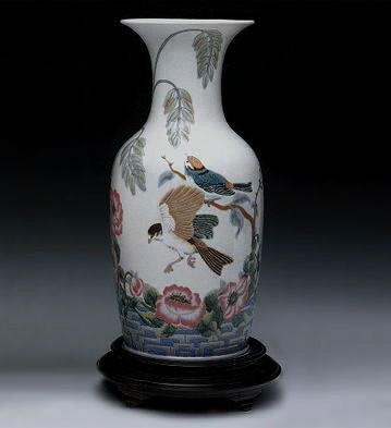 LladroRose Garden Vase 1989-00 Le300