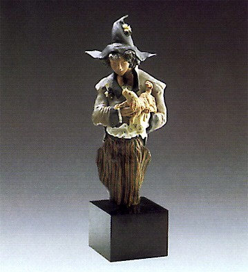 Lladro Goyescas Harlequin With Puppy 1988-93
