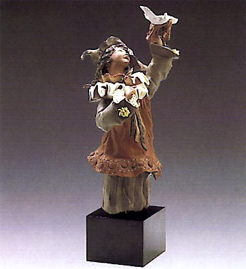 Lladro Goyescas Harlequin With Dove 1988-93