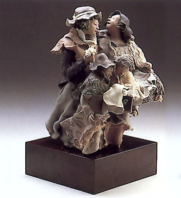 Lladro Back From The Fair Goyesca Porcelain Figurine