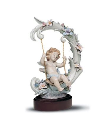 Lladro Heavenly Swing Le 1000 1991-01 Porcelain Figurine