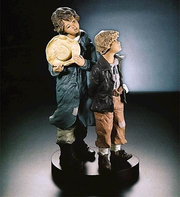 Lladro He's My Brother Goyesca Porcelain Figurine