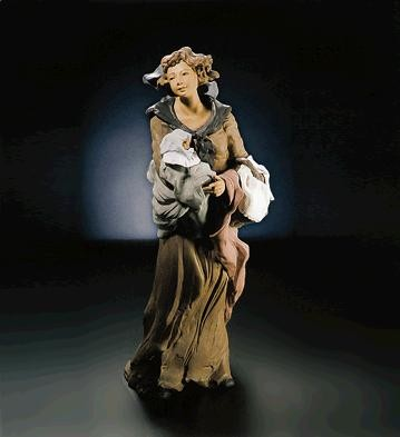 Lladro Goyescas Motherly Love Le250 1993 Porcelain Figurine