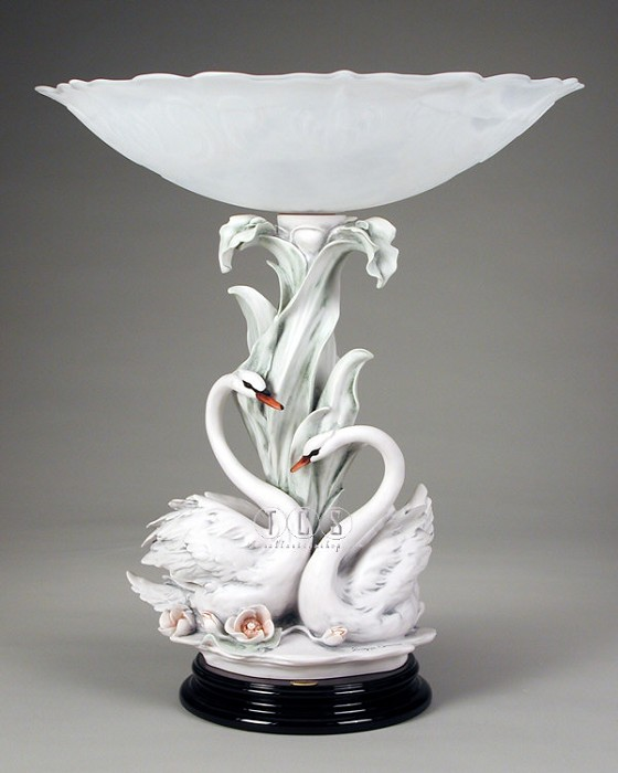 Giuseppe ArmaniThe Swans With Flowers Centerpiece