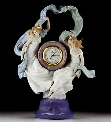 Lladro Allegory Of Time 1994-98 Porcelain Figurine