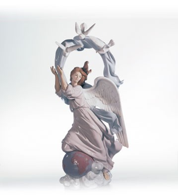 Lladro Vision Of Peace Le1500 1995-03 Porcelain Figurine