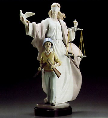 Lladro Dream Of Peace Le2000 1995-97 Porcelain Figurine