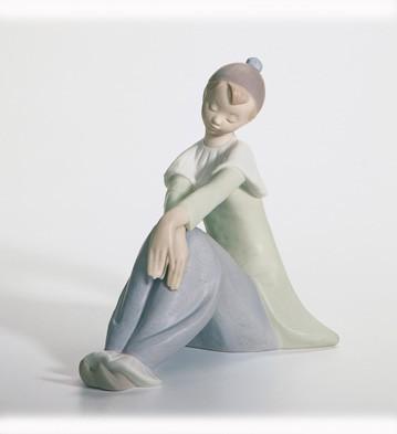 LladroReflective Pierrot 2005-07Porcelain Figurine