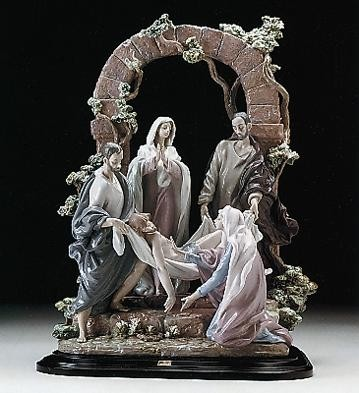 Retired Lladro The Burial Of Christ  (1250)