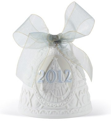 Lladro Christmas Bell 2012 Ornament Porcelain Figurine