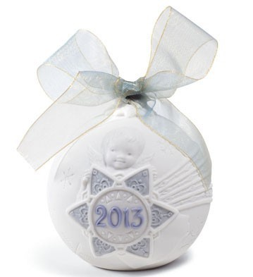 LladroChristmas Ball 2013 OrnamentPorcelain Figurine