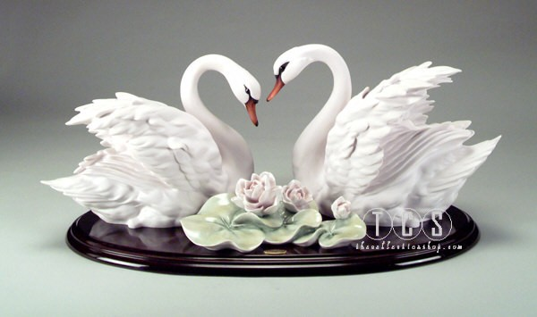 Giuseppe Armani Two Swans & Flowers