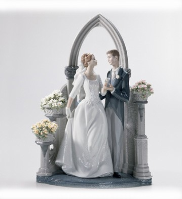 Lladro A Vow Of Love le1000 2003-10 Porcelain Figurine