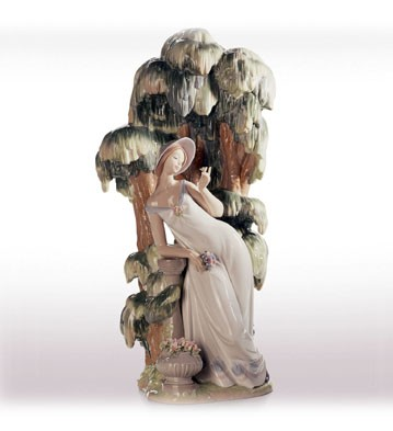 Retired Lladro Waiting In The Willow (1000)