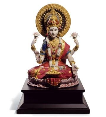 LladroGoddess Lakshmi 2012-13Porcelain Figurine