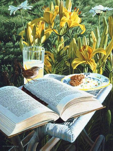 Ron ParkerSummer Reading Limited Edition Print