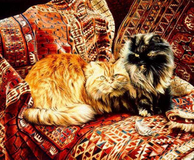 Jessica HolmFive Persians Limited Edition Print