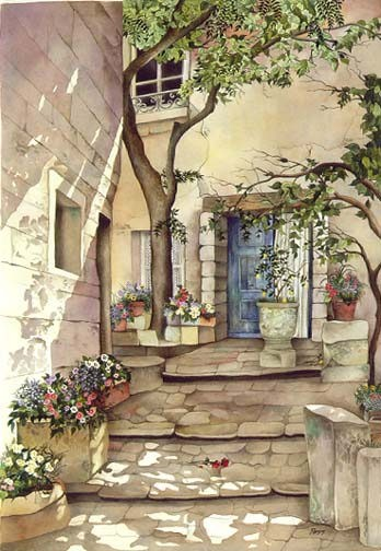 Pomm Courtyard Romance Limited Edition Print