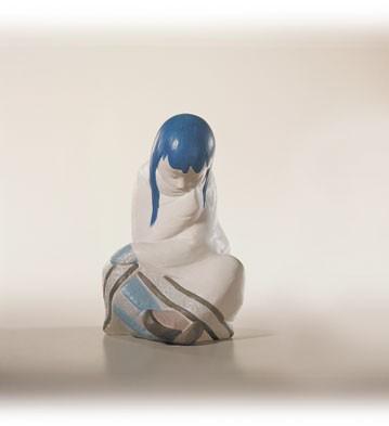 LladroEskimo Girl / White Decor.Porcelain Figurine