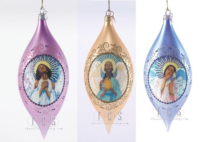 Ebony VisionsFaith Hope Love Ornament Bundle