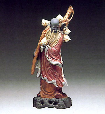 LladroChinese Farmer 1977-85Porcelain Figurine