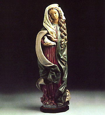 Lladro Madonna With Dove 1977-83 Porcelain Figurine