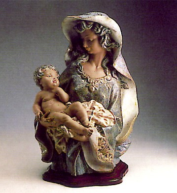 Lladro Woman And Child 1977-81 Porcelain Figurine