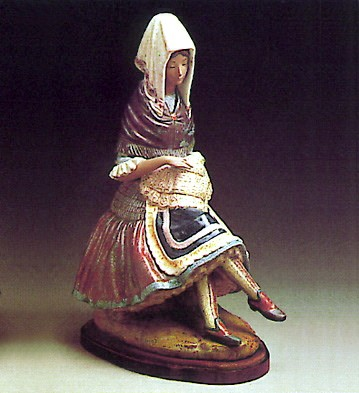 Lladro Woman 1978-85 Porcelain Figurine