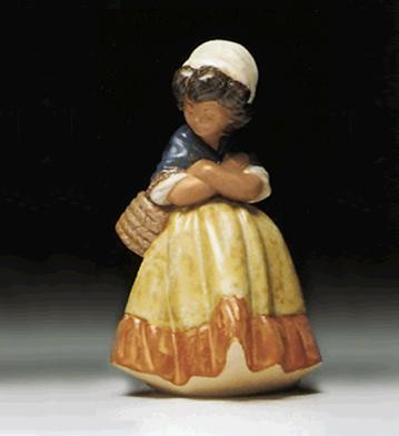 Lladro Girl With Arms Crossed 1978-99 Porcelain Figurine
