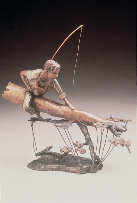 Mark HopkinsFishing HoleBronze Sculpture