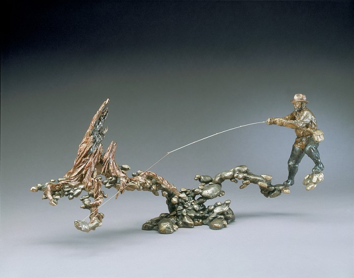 Mark Hopkins Fast and Shallow Bronze Sculpture