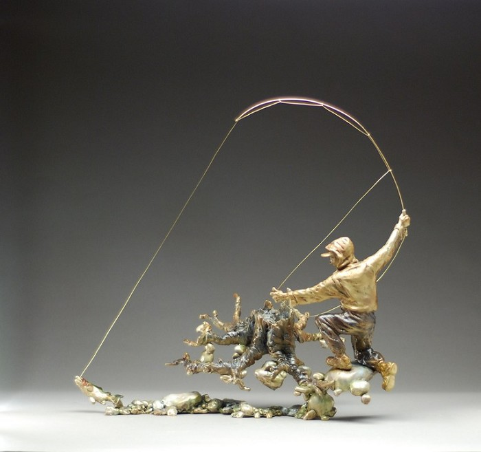 Mark Hopkins The Strike Bronze Sculpture