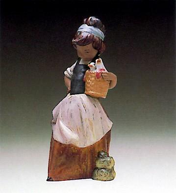 LladroMarujita With Two Ducks 1980-93Porcelain Figurine