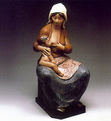 Lladro Mother Feeding Baby 1981-85