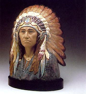 LladroIndian Chief 1983-88Porcelain Figurine