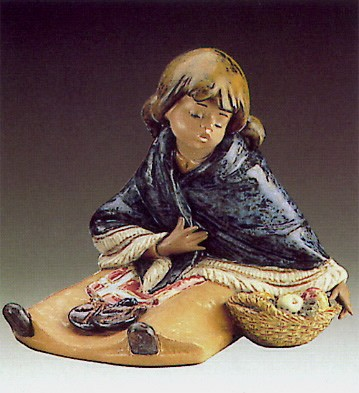 Lladro Oriental Fruit Vendor 1985-94 ***