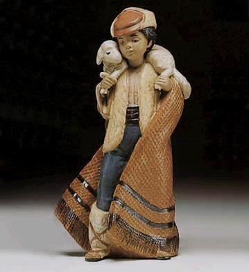 LladroMountain Shepherd 1987-99Porcelain Figurine
