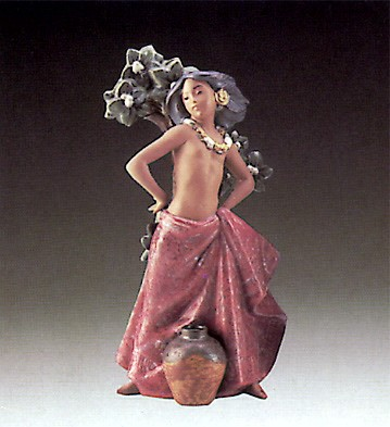 LladroIsland Girl 1987-1990Porcelain Figurine