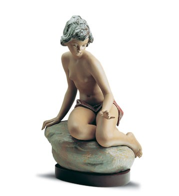 Lladro Bathing Nymph 1988-2001 Porcelain Figurine