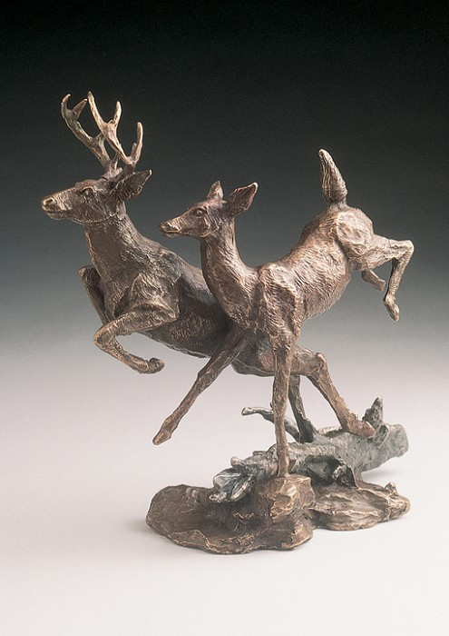 Mark Hopkins Deer Bronze Sculpture